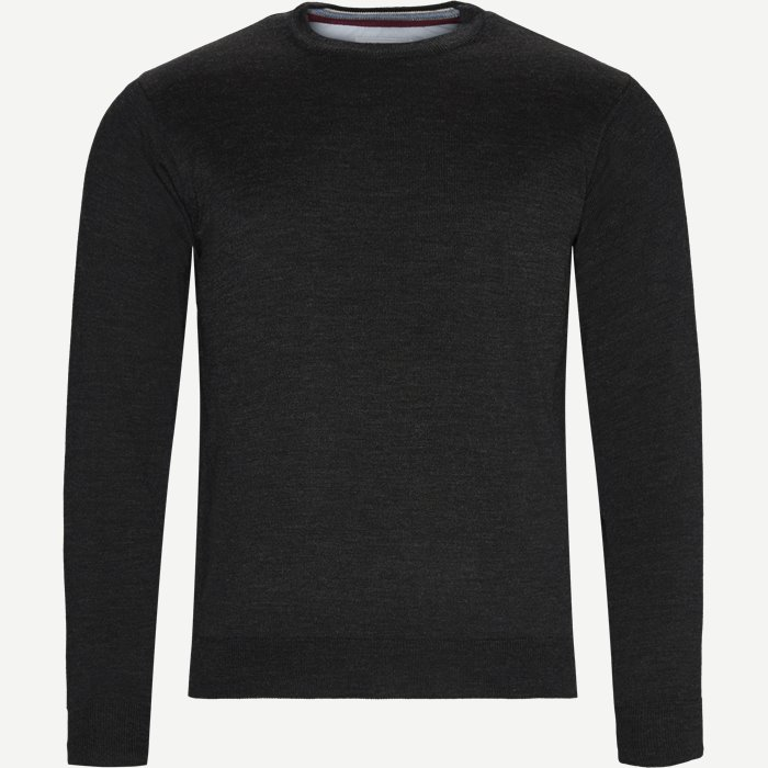 Brescia Crew Neck Strik - Strik - Regular - Grå